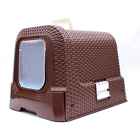 Deluxe Covered Litterbox - Brown